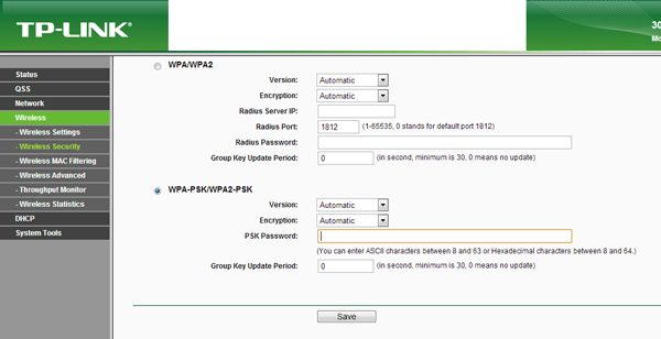 tp-link-wireless-settings