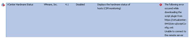 vCenter Server - Plug-ins